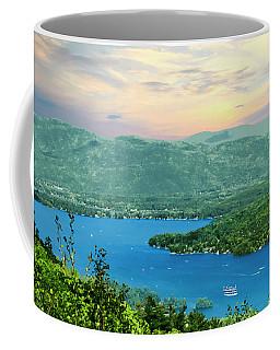 A View Of Lake George,adirondack Park New York. Coffee Mug