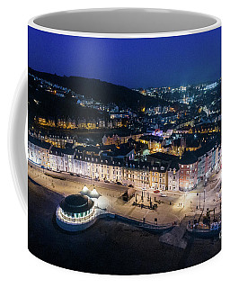 Aberystwyth Wales At Night From The Air Coffee Mug