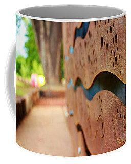 Coffee Mug featuring the photograph 1 Abstract Lake Patricia Sign 2 by Joan Stratton