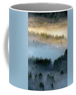 Coffee Mug featuring the photograph Adirondack Fog by Brad Wenskoski