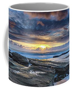 An Atmospheric Coastal Sunrise Coffee Mug