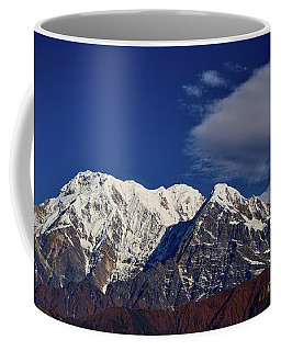 Annapurna South Peak And Pass In The Himalaya Mountains, Annapurna Region, Nepal Coffee Mug