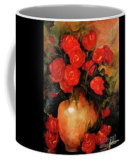 Antique Red Roses Coffee Mug