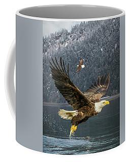 Bald Eagle With Catch Coffee Mug