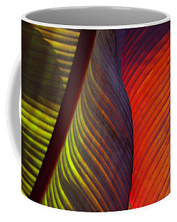 Coffee Mug featuring the photograph Banana Leaf 8602 by Mark Shoolery