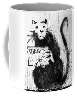 Banksy Rat The End Is Here Coffee Mug