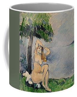 Bather At The Seashore Coffee Mug