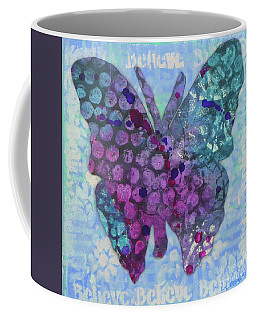 Believe Butterfly Coffee Mug