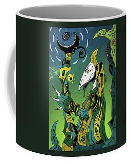 Coffee Mug featuring the digital art Birdman by Sotuland Art