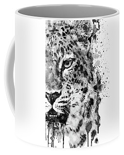 Black And White Half Faced Leopard Coffee Mug