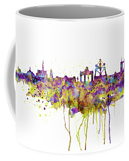 Brussels Skyline Silhouette Coffee Mug