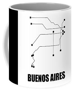 Buenos Aires White Subway Map Coffee Mug