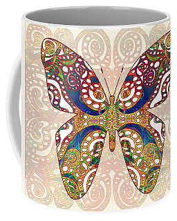 Butterfly Illustration - Transforming Rainbows  - Omaste Witkowski Coffee Mug