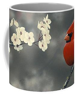 Cardinal And Blossoms Coffee Mug