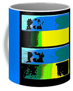 Cityscapel 4000 Original Fine Art Painting Digital Abstract Triptych Coffee Mug