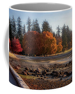 Coffee Mug featuring the photograph Colorful Autumn Foliage At Stanley Park by Andy Konieczny