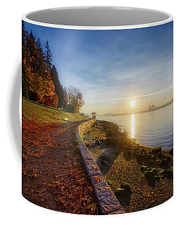 Colorful Autumn Sunrise At Stanley Park Coffee Mug