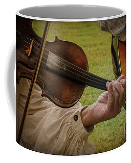 Coffee Mug featuring the photograph Fiddler by Guy Whiteley