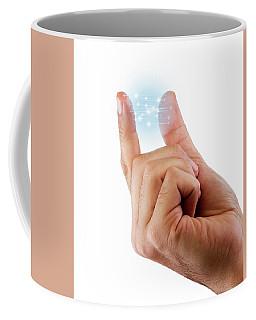 Fingertip Artificial Intelligence Coffee Mug