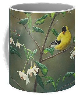 Goldfinch And Snowbells Coffee Mug