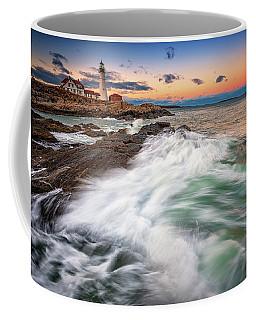 Coffee Mug featuring the photograph High Tide At Dusk by Rick Berk