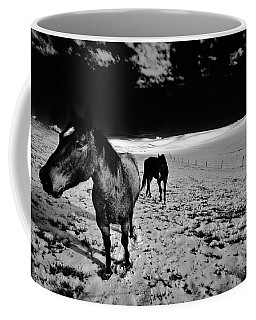 Coffee Mug featuring the photograph Horses On The Palouse by David Patterson