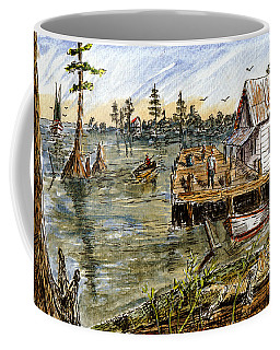 Coffee Mug featuring the painting In The Swamp by Barry Jones