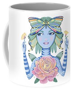 Insect Girl, Winga, With Rose Coffee Mug