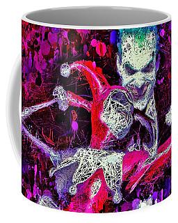 Coffee Mug featuring the mixed media Joker And Harley Quinn by Al Matra