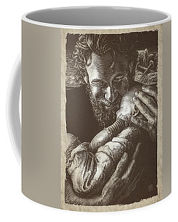 Coffee Mug featuring the drawing Joseph by Clint Hansen