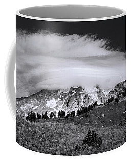 Coffee Mug featuring the photograph Lenticular Cloud Over Mt Rainier by Sharon Seaward