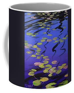 Lilies On Blue Water Coffee Mug