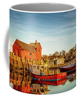 Low Tide And Lobster Boats At Motif #1 Coffee Mug