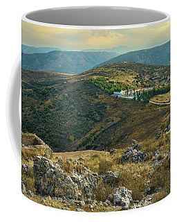 Monastery Agion Anargiron Above Argos Coffee Mug