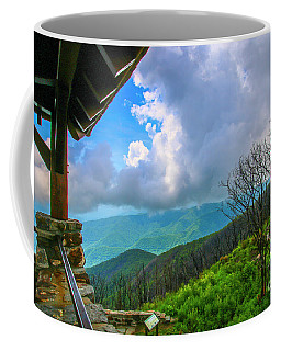 Coffee Mug featuring the photograph Observation Tower View by Tom Claud
