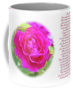Pink Rose And Song Lyrics Coffee Mug