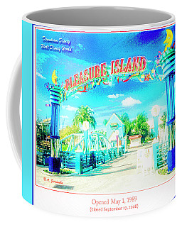 Pleasure Island Sign And Walkway Downtown Disney Coffee Mug