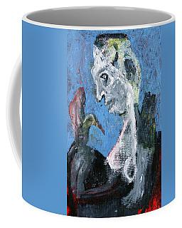 Portrait With A Bird Coffee Mug