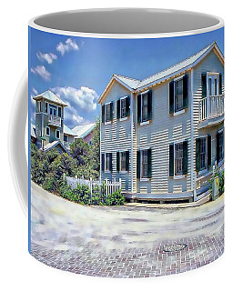Coffee Mug featuring the photograph Seaside Village by Anthony Dezenzio