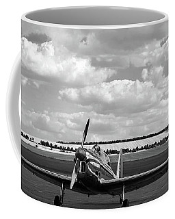 Silver Airplane Duxford England Coffee Mug