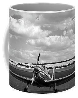 Coffee Mug featuring the photograph Silver Airplane Duxford England by Rick Veldman