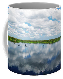 Skyscape Reflections Blue Cypress Marsh Near Vero Beach Florida C6 Coffee Mug