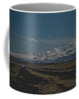 Snow-covered Mountains In The Turkish Region Of Capaddocia. Coffee Mug