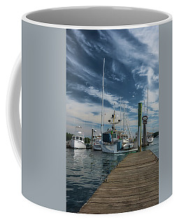 Coffee Mug featuring the photograph South Freeport Pier  by Guy Whiteley
