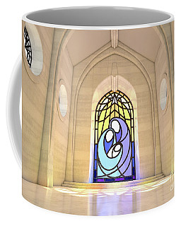 Stained Glass Window Nativity Scene Coffee Mug