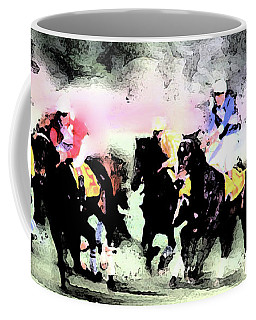 Coffee Mug featuring the photograph Steeple Chase Colors by Wayne King