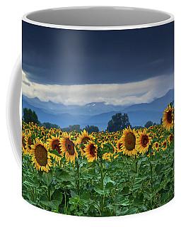 Sunflowers Under A Stormy Sky Coffee Mug