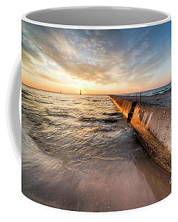 Sunset From The Beach In Frankfort Coffee Mug