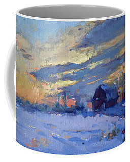 Sunset Over The Farm Coffee Mug