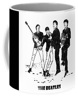 The Beatles Black And White Watercolor 02 Coffee Mug